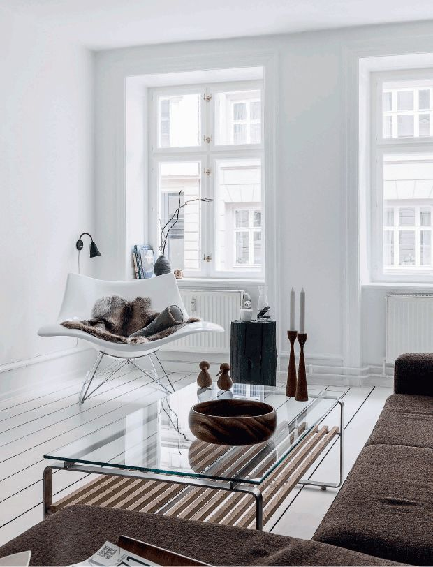Copenhagen apartment; Danes are not big fans of curtains!