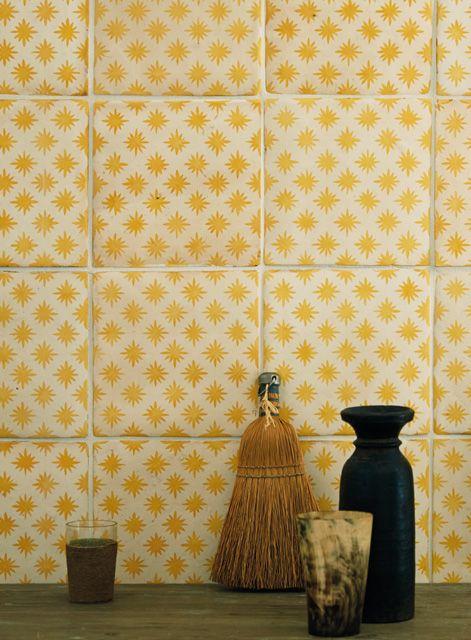 Atlas Star Anise Buttercup by Neisha Crosland http://www.firedearth.com/tiles/range/neisha-crosland-atlas/star-anise-buttercup