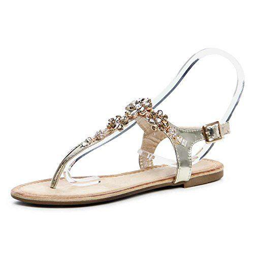 KT Zehentrenner Sandalen nude ros goldfarben Elegant Damen Gr. DE 36 Sandals