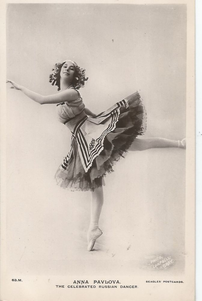 ANNA PAVLOVA RUSSIAN BALLET DANCER OLD PHOTO POSTCARD 1900S FROM COLLECTION
