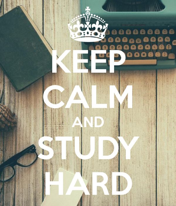 'KEEP CALM AND STUDY HARD' Poster