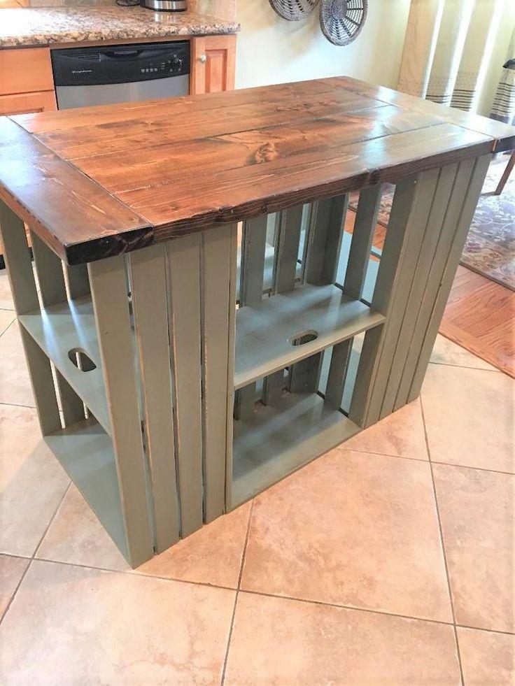 Kitchen Island Reclaimed Wood Farmhouse Rustic Country Image 1 Reclaimed Wood Kitchen Island Diy Kitchen Renovation Home Decor
