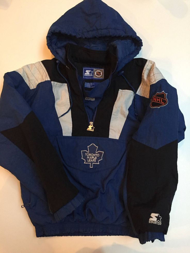 A personal favorite from my Etsy shop https://www.etsy.com/ca/listing/551038920/90s-starter-pull-over-coat-toronto-maple