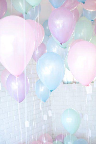 pastel colours baloons