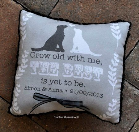 Wedding ring pillow for dog lovers