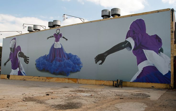 """Long Live The Dead Queen in Johannesburg - Mary Sibande is an artist of South Africa. His latest creation is """" Long Live The Dead Queen"""" , a series of murals and photographs"""
