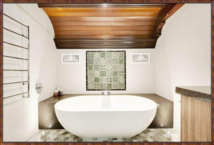 freistehende-badewanne-halb-einbauenjpg (1400×950) Bäder - freistehende badewanne raffinierten look