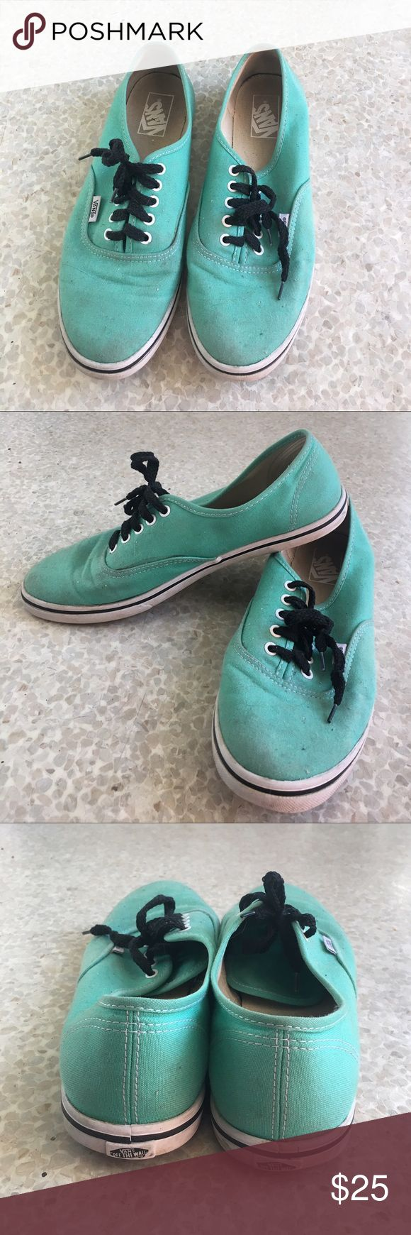 mint green vans gently worn. Vans Shoes Sneakers