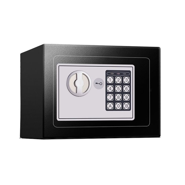 Small Digital Security Safe Box - Jssmst Lock Safe Box Wall Anchoring Design (black), 0.2 Cubic Feet, SB009