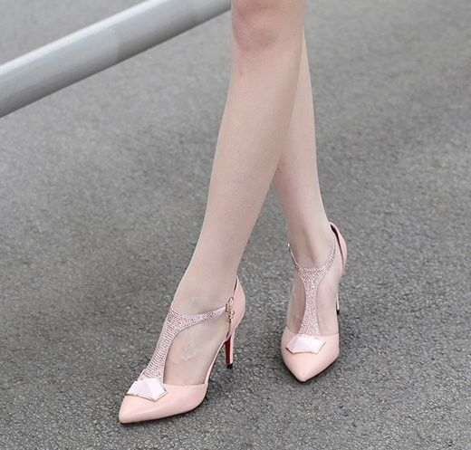 women real genuine leather stiletto red bottom party high heel sandals