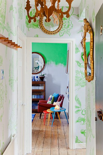 This home reportage from The Guardian yesterday is fantastic. Take a look at the handpainted walls.