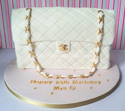 Chanel flap bag cake