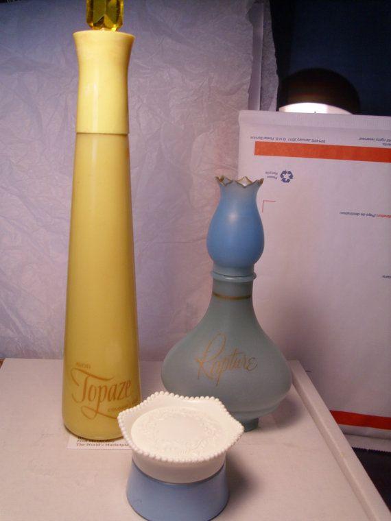 Vintage Avon Rapture Cologne | Vintage Avon Perfume Bottles / Set of 3/ by LakeCottageVintage