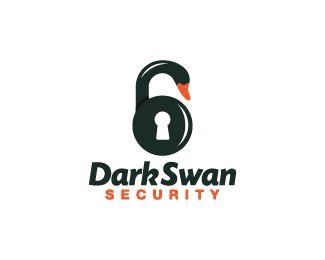 Dark Swan Security Logo design - Logo design of a swan shaped like a lock.  Price $299.00