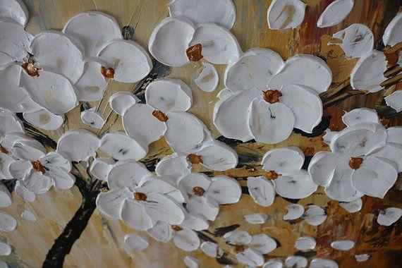 Salón pintado a mano decoración hogar flor arte cuadro