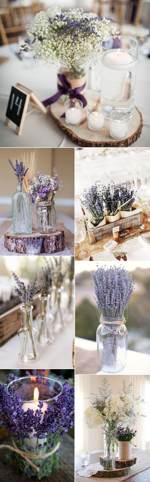 chic lavender wedding centerpiece ideas