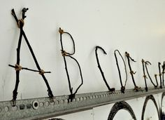 Stick alphabet - this would be perfect outdoors!