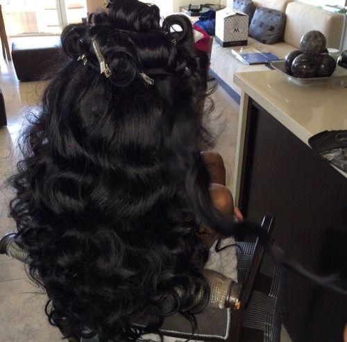 hair, black, and luxury image