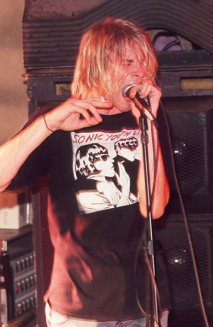 Kurt Cobain wearing a Sonic Youth shirt, what's better than that?