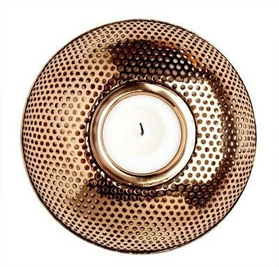 Louise Roe copper candle holder is a timeless accessory for your home. Danish design at it's loveliest!