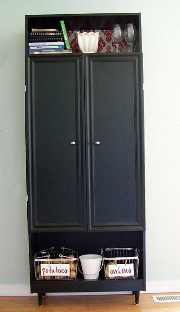 Pantry From Re Purposed Bookshelf Doors W 2 Exposed
