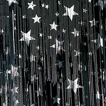 Our Black and Silver Stars Premium Metallic Curtains are fantastic black and silver star curtains are available in two sizes.