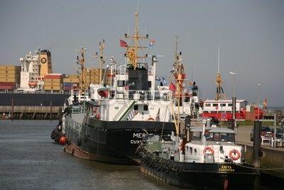 Im Hafen von Cuxhaven an der Nordsee