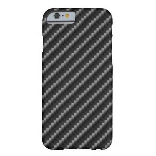 Carbon Fiber Style Barely There iPhone 6 Case
