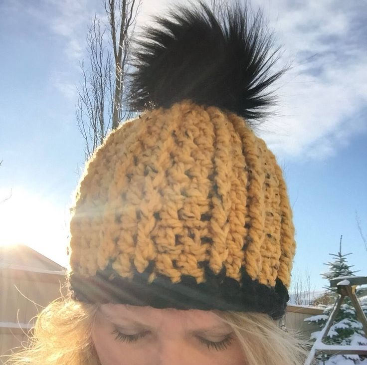 Excited to share the latest addition to my #etsy shop: Wisteria Beanie/Winter Hat/Beanie/Toque/Winter Fashion/For Her/Faux Fur Pom Pom/Winter Acessories/Ready to Ship/Chunky Knits/Crochet Hat #hat #fauxfurpompom #mustardyellow #winterbeanie #winterhat #forher #beanie #womenshat