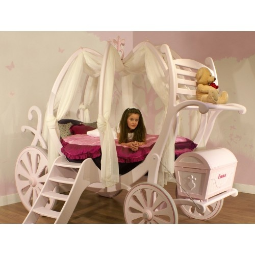 Canyon Disney Princess Twin Carriage Canopy Bed