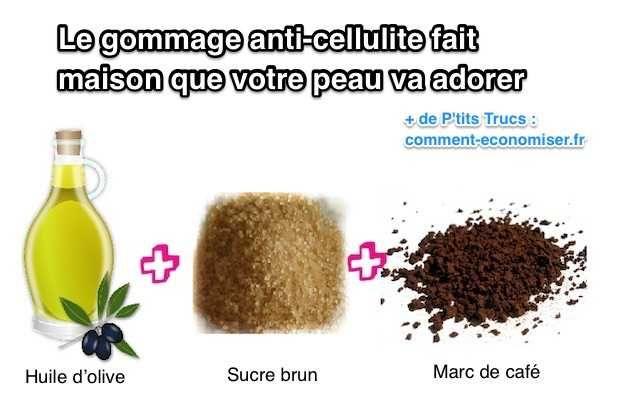 Ma grand-mère m'a transmise une recette que votre peau va adorer. En plus tous les produits sont déjà dans vos placards !  Découvrez l'astuce ici : http://www.comment-economiser.fr/gommage-anti-cellulite-cafe-et-huile-olive.html?utm_content=buffer0d0f9&utm_medium=social&utm_source=pinterest.com&utm_campaign=buffer