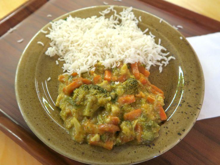 Zelenina s kokosovým mlékem a rýží / Veggies with coconut milk and rice