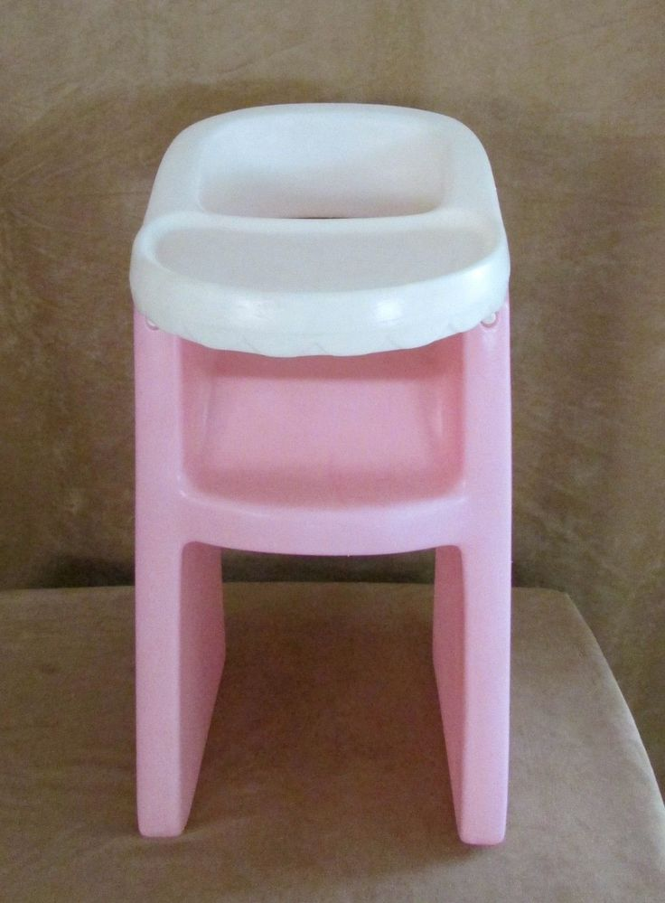 Little Tikes Pink Doll High Chair Child Size 24 Doll