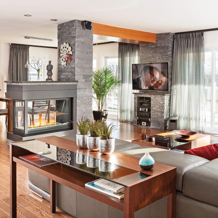 Salon lumineux, chaleureux et actuel - Salon - Avant après - Décoration et rénovation - Pratico Pratique
