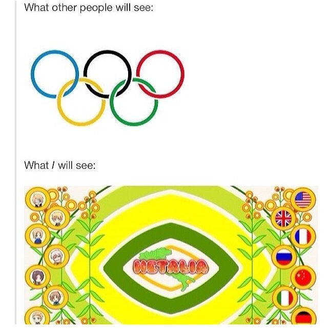 This year's olympics (Rio 2016) will be the first I see after being sucked into the Hetalia fandom. I've always been excited for the Olympics, but this year AHHHHHHHHH