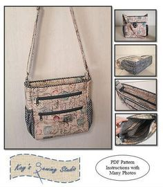 (9) Name: 'Sewing : Johanna Crossbody Bag $8.00 pattern