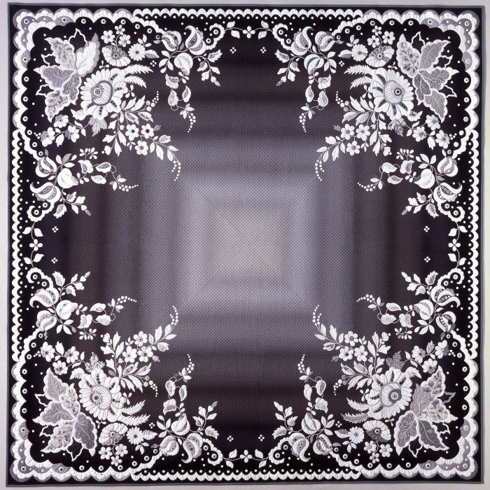 Great quilt from Ted Storm, 80x80 inch, looks like a lace hanky of 1x1 ft
