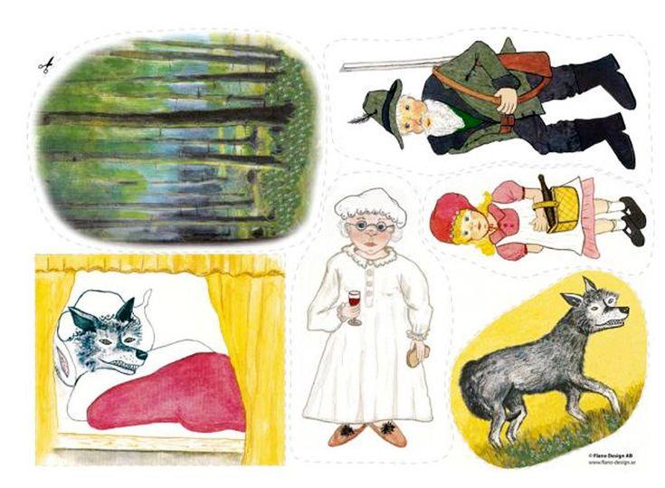 Folksagan Rödluvan och vargen är en klassiker för alla barn. En spännande saga med ett lyckligt slut. Rödluvan och Bockarna Bruse var våra första flanosagor
