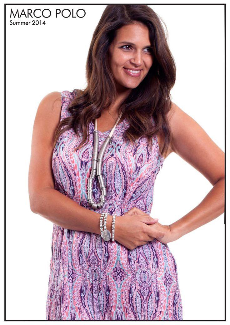 Sleeveless Large Paisley Print Dress- 14S941501M