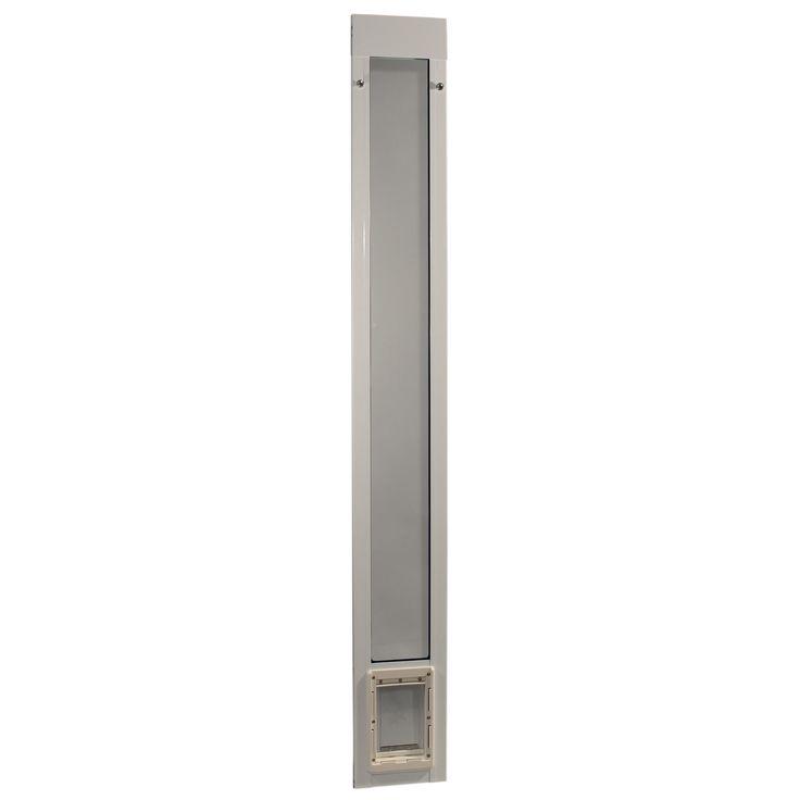 Ideal Pet 7 In X 11 25 In Medium White Pet And Dog Patio Door Insert For 77 6 In To 80 4 In Tall Aluminum Sliding Glass Door 80patmw Pet Patio Door Patio Dog Door Pet Door