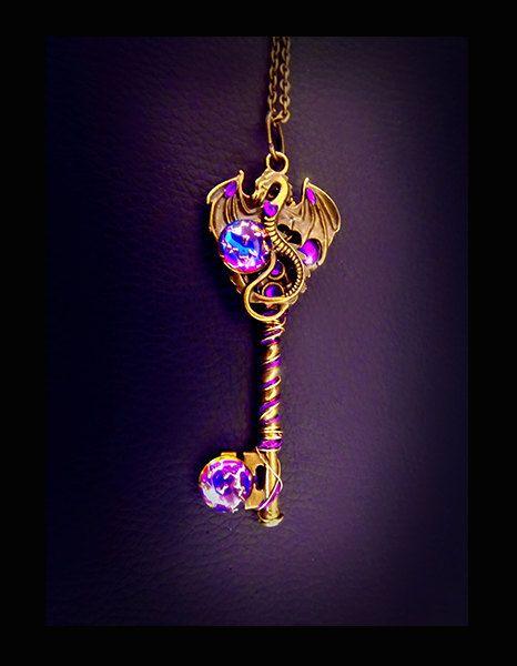 'Amaru' Dragon key necklace