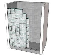 Image result for glass block showers no doors