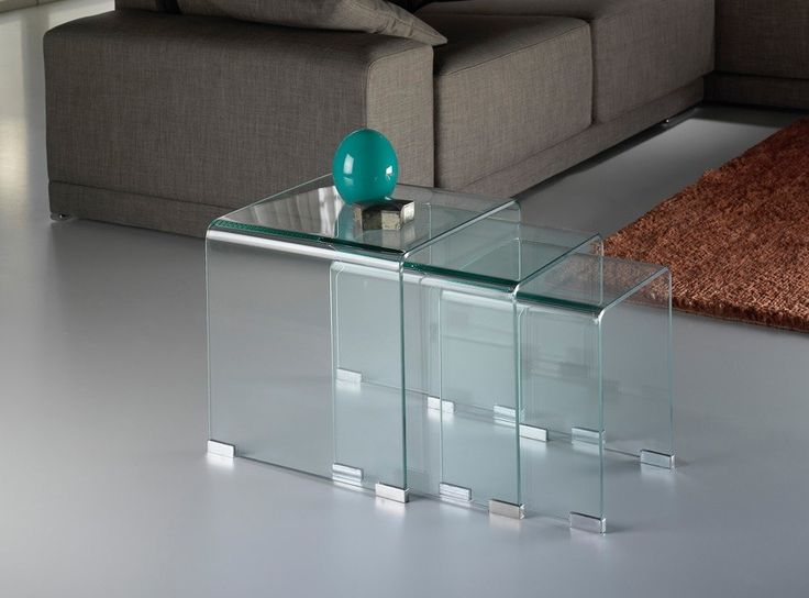 Mesas Nido Glass Transparente  http://www.ambar-muebles.com/mesas-nido-glass-transparente.html