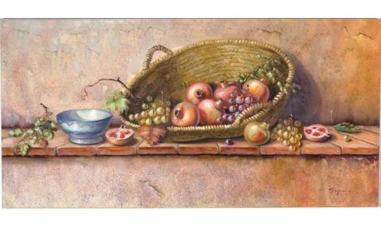 Cuadro Bodegón Cesta de Frutas [04-014]