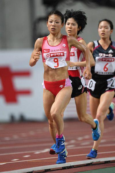 Mizuki Matsuda of Japan (gold) competes in the Women 10000m final during the 101st Japan National Championships at Yanmar Stadium Nagai on June 23, 2017 in Osaka, Japan.