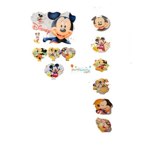 Mickey Mouse Dekoratif Asma SüsMickey Mouse Dekoratif Asma Süs Ürün ÖzellikleriÜrün Paketinde 2 Adet Mickey Mouse Asma Süs bulunur.Karton Dekoratif Asma Süsler renkli baskı ve kalitelidir.Tavana asmak suretiyle kullanılmaktadır.Mickey Mouse temalı asma süsler 5'li ve 4'lü asma süs olmak üzere 2 çeşi