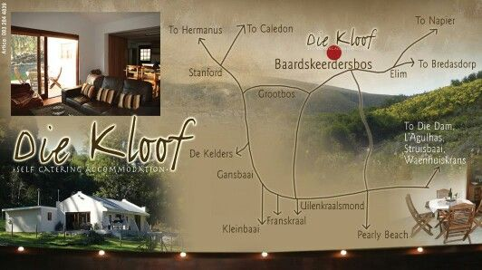 Die Kloof Baardskeerdersbos Farm Self Catering - location