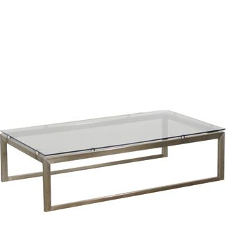 """Ora Purus Coffee Table BY SOKUL D 30"""" W 39"""" H 15""""  Stainless Steel"""