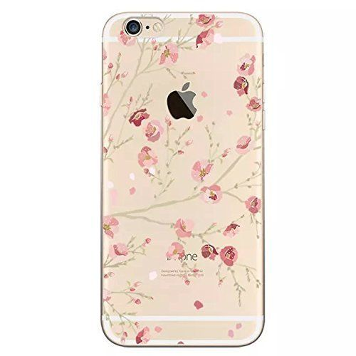 iPhone 6S Hülle,iPhone 6 Hülle,iPhone 6 6S Silikon Hülle [Kratzfeste, Scratch-Resistant], Sunroyal iPhone 6 6S (4,7 Zoll) Hülle TPU Case Schutzhülle Silikon Crystal Kirstall Clear Case Durchsichtig,Beautiful Rosa Blooming Blume Flower in Spring Malerei Muster Transparent Weichem Silikon Schutzhülle Handy Gürtel Tasche Schutzhülle Hülle Case Cover Fall-Abdeckung Etui TPU Bumper Schale iPhone 6/6S (4,7 Zoll)