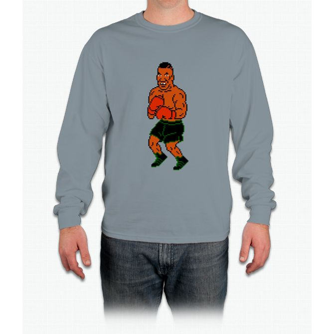 Mike Tyson sprite - Punch Out! Long Sleeve T-Shirt